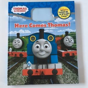 """Here Comes Thomas"" Hardcover bk w/ 4 Train Tracks"